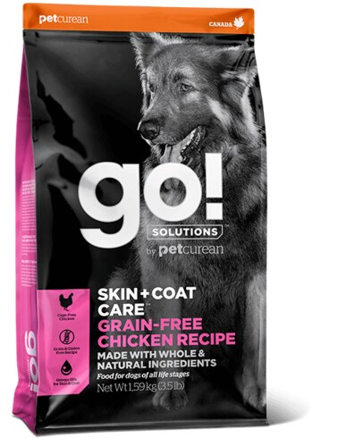 PETCUREAN GO! Solutions Grain-Free Skin&Coat Chicken Dog 11,4 kg